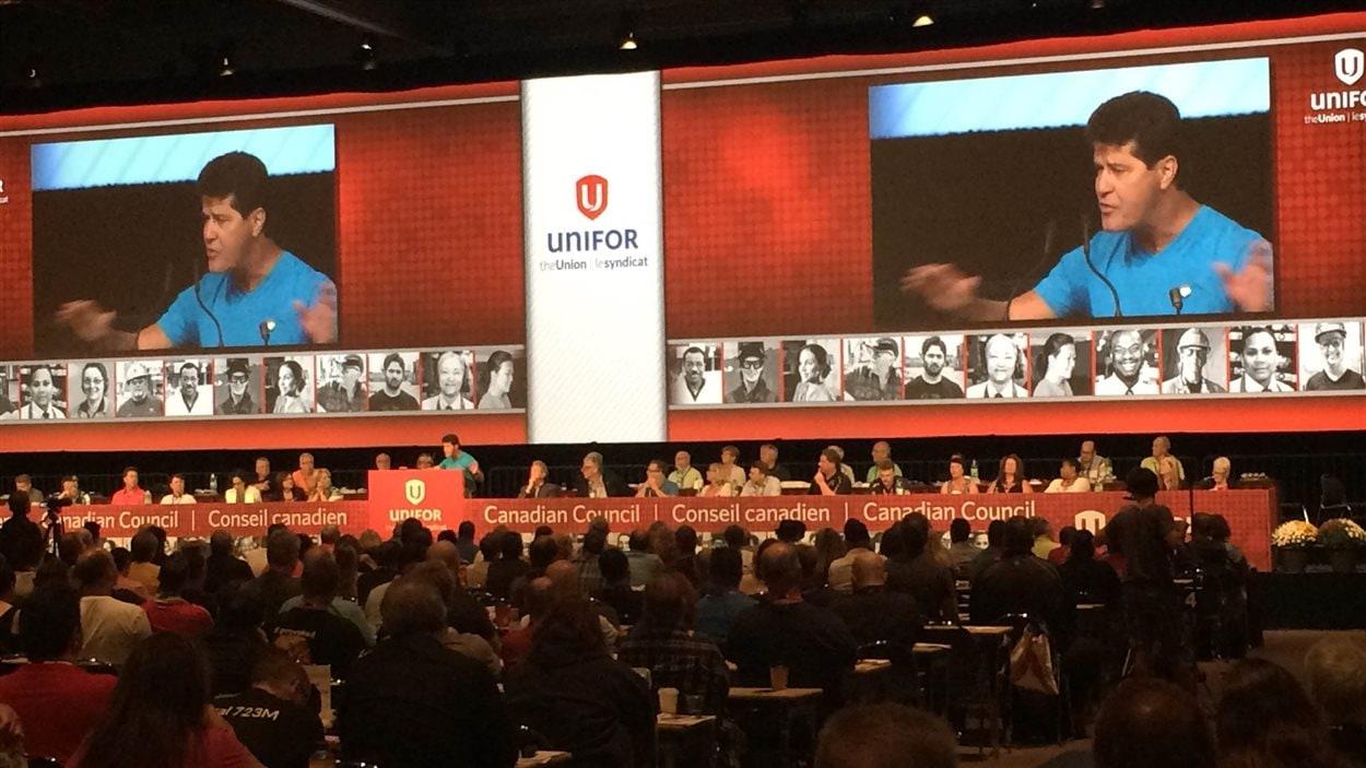 Environ 1000 délégués de partout au pays sont réunis à Montréal du 21 au 23 août dans le cadre du deuxième Conseil canadien d'Unifor.
