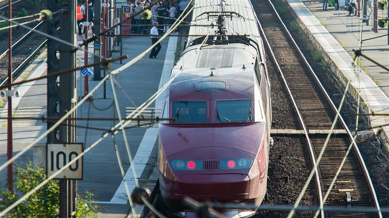 Le train Thalys à la gare d'Arras, le 21 août.