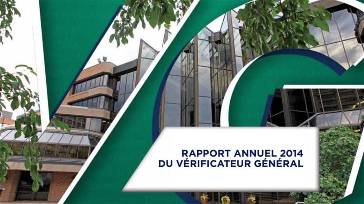 La couverture du rapport 2014 du véréficateur général de Gatineau.