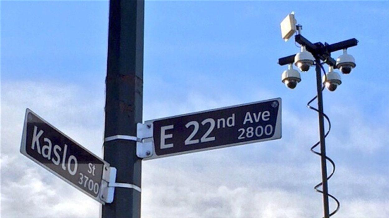 Des caméras de sécurité installées près de la 22e Avenue Est et la rue Kaslo.