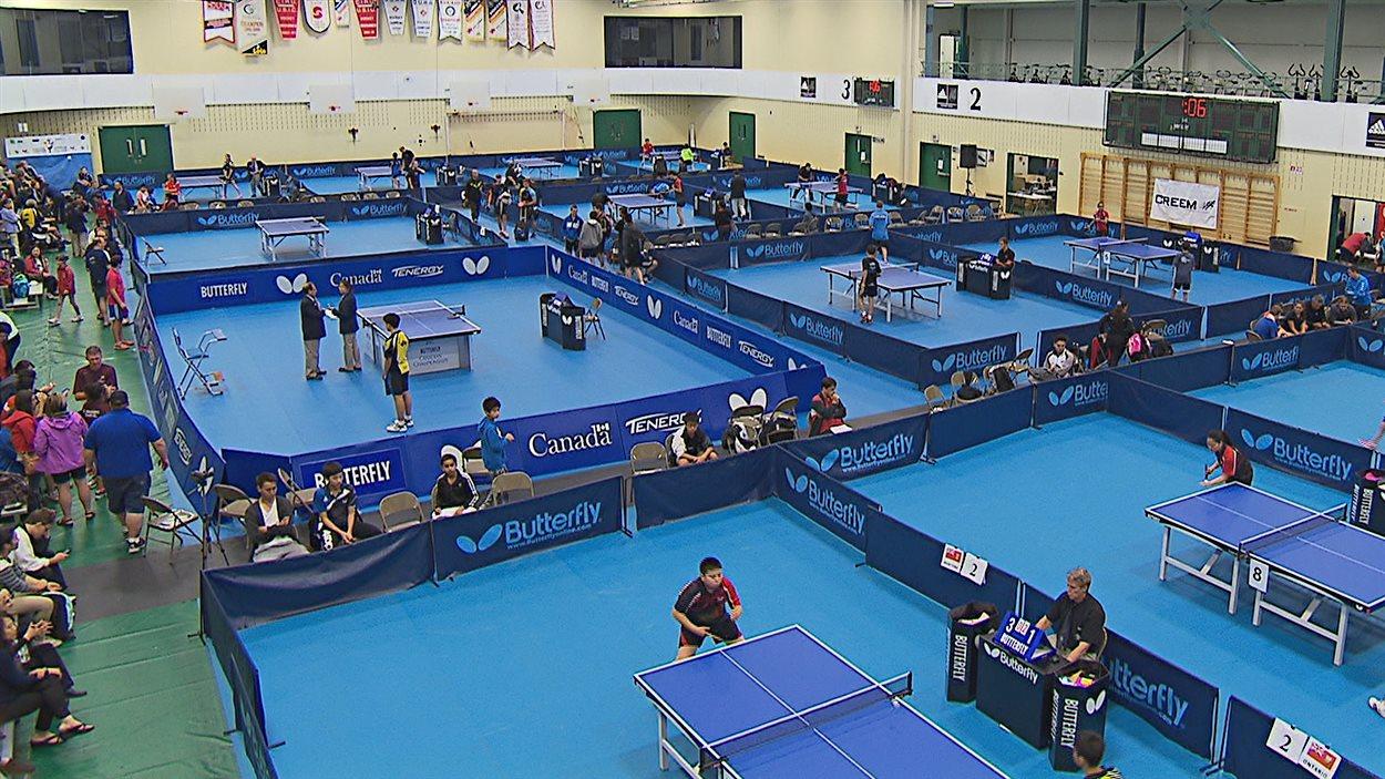 Le Championnat Canadien de tennis de table est en cours à Trois-Rivières.