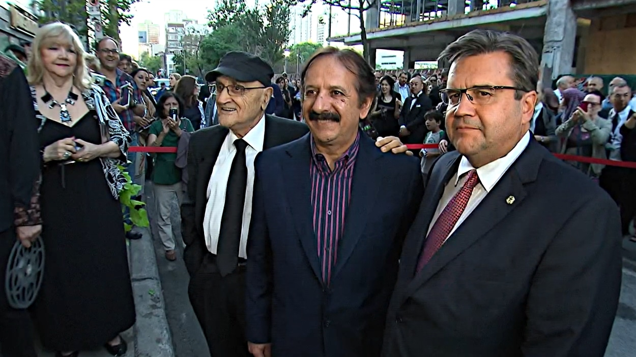 Serge Losique, Majid Majidi et Denis Coderre sur le tapis rouge du FFM