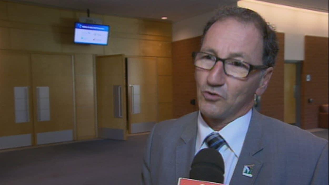 Le maire de Dolbeau-Mistassini, Richard Hébert. Radio-Canada