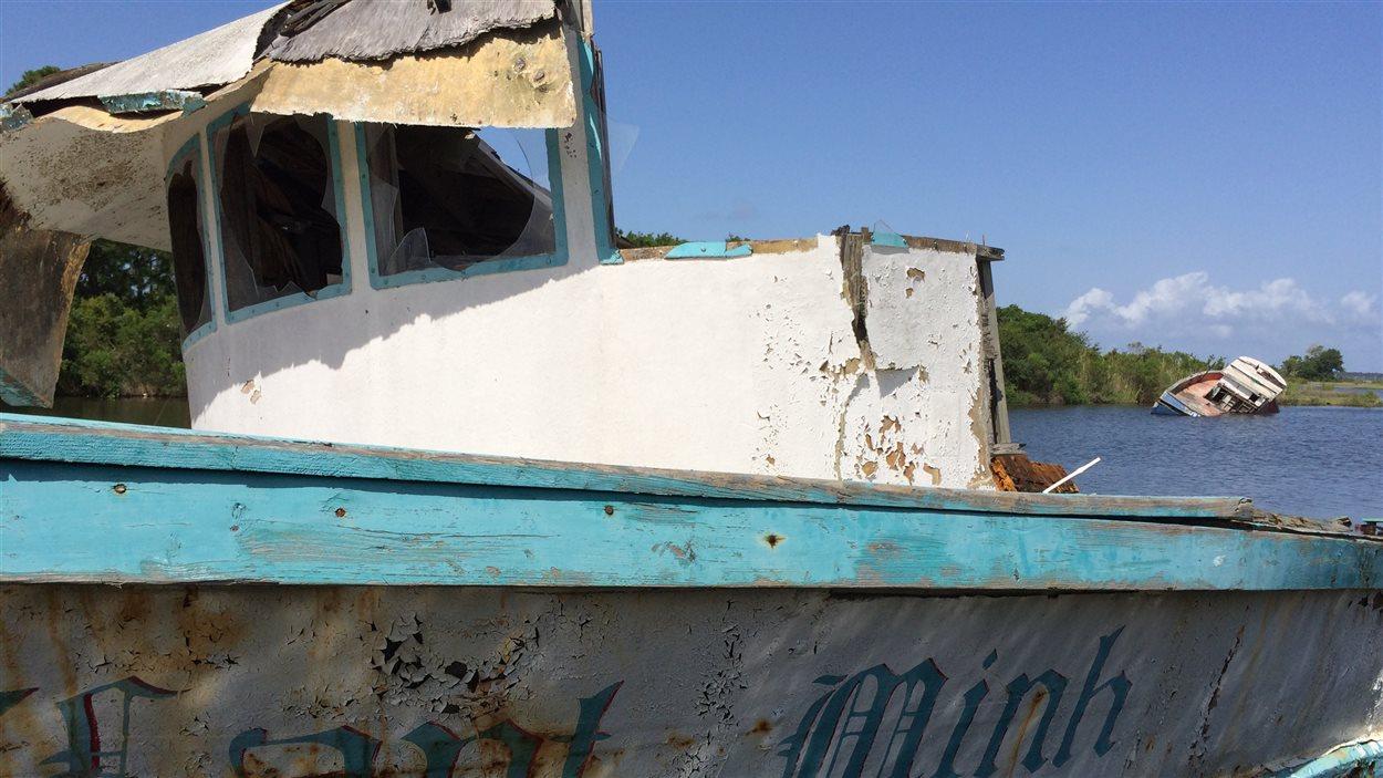 À Bayou La Batre, en Alabama, l'industrie de la pêche souffre encore des suites de l'ouragan Katrina.