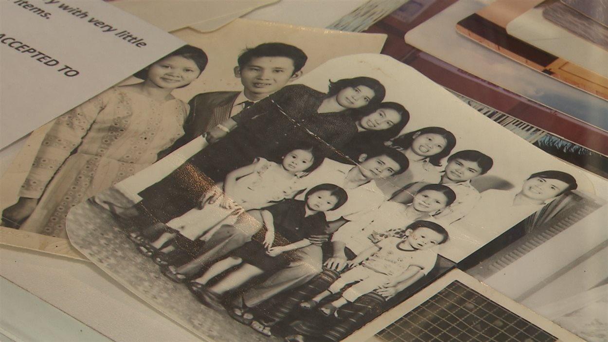 La famille Nguyen, alors que Thi Be n'était âgée que de quatre ans