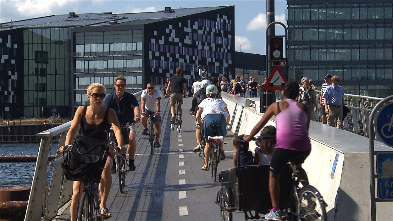 Un pont pour cyclistes et piétons à Copenhague