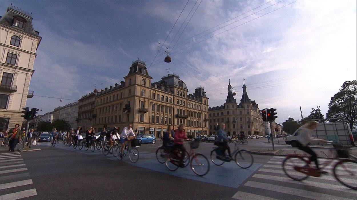 Cyclistes à Copenhague