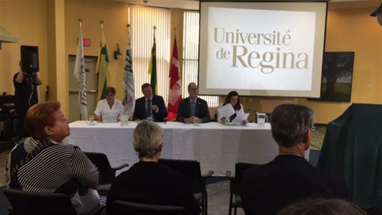 Inauguration de la Cité universitaire francophone à Regina le 1er septembre