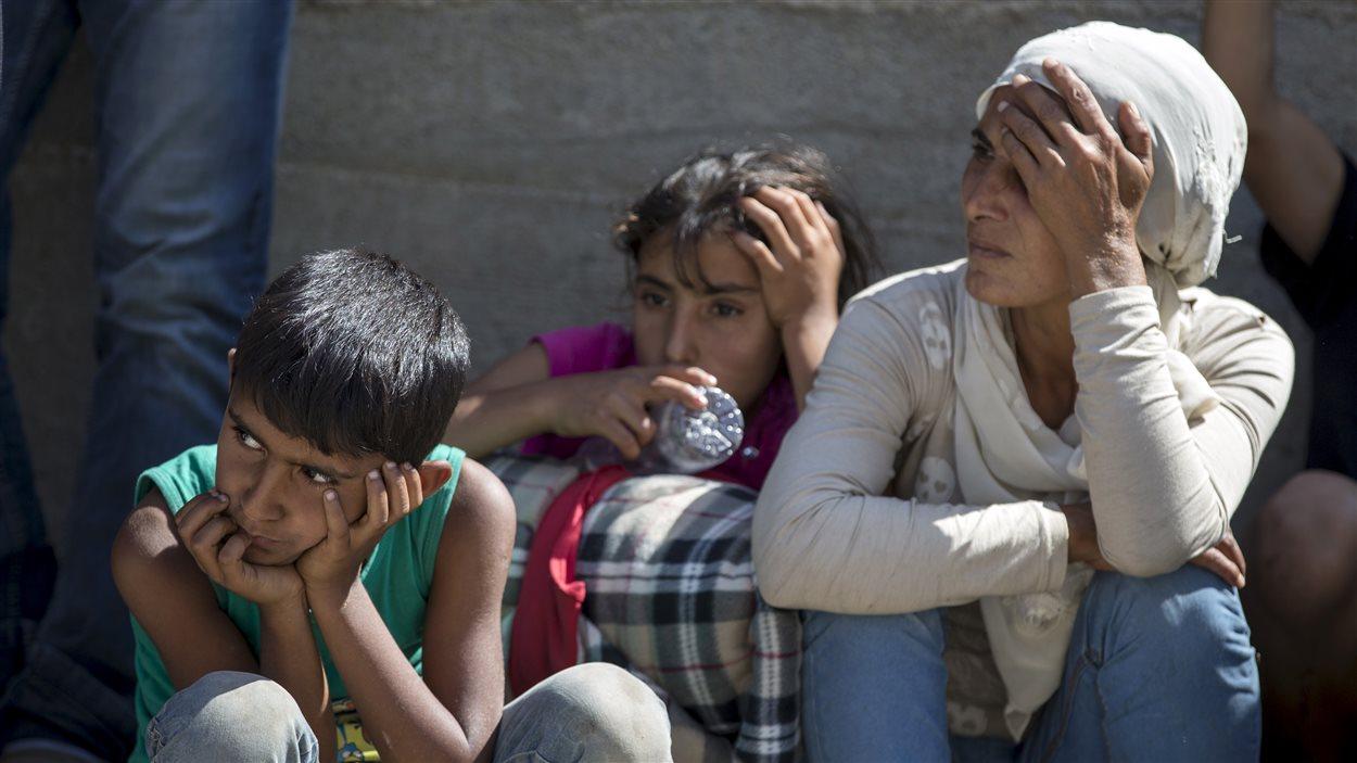 Des réfugiés syriens en Serbie, le 24 août