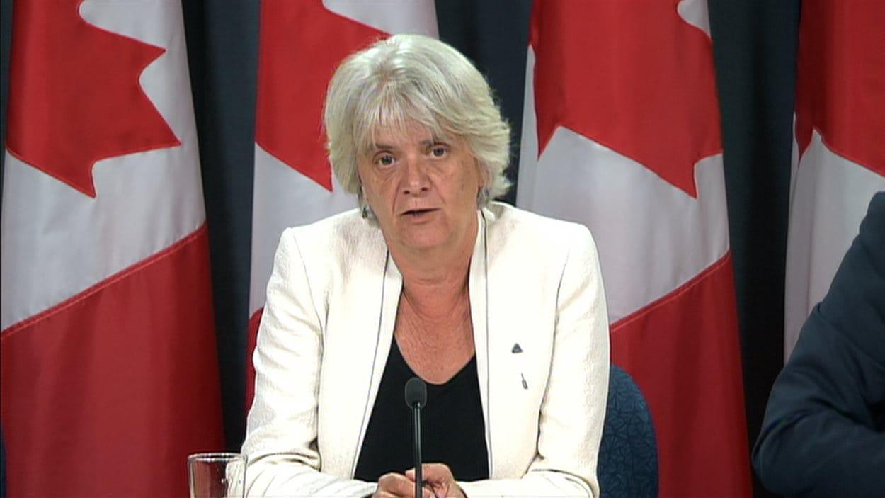 La candidate néo-démocrate Hélène Laverdière
