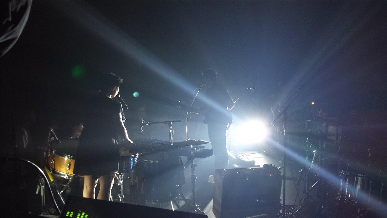 Louis-Jean Cormier, lors du concert de clôture du FME 2015