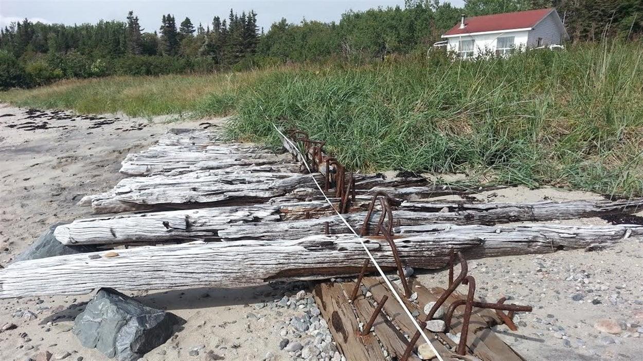 L'épave du navire Georges Smith à Pointe-des-Monts