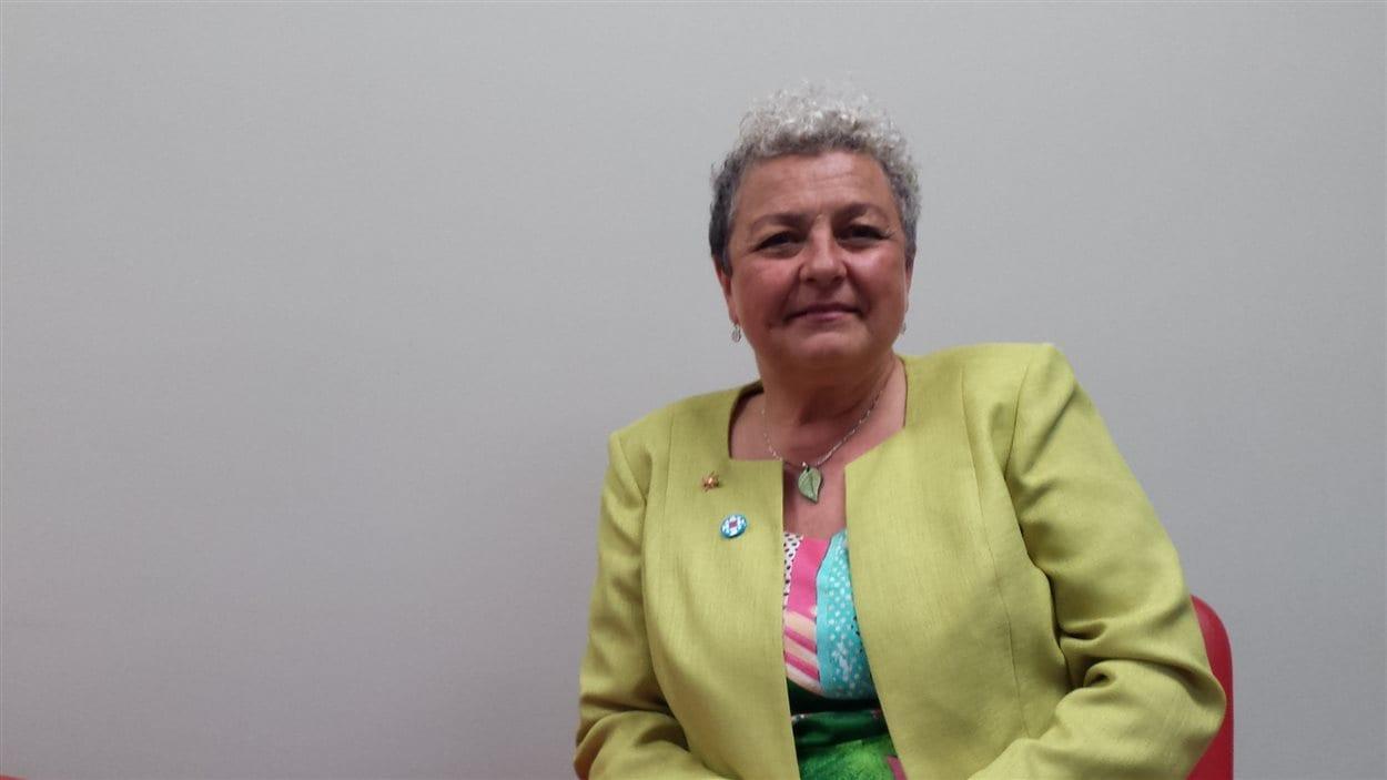Aline Bégin, candidate du Parti vert du Canada dans la circonscription d'Abitibi-Témiscamingue