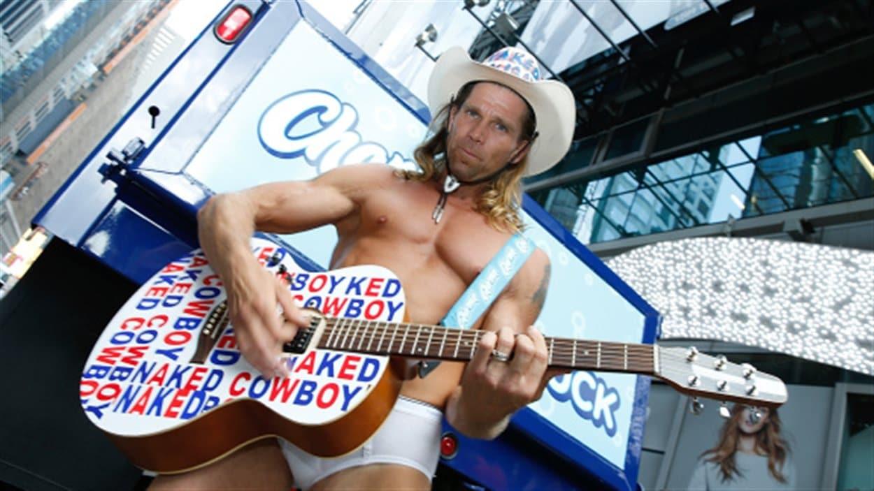 Le «cowboy nu» de Times Square, à New York