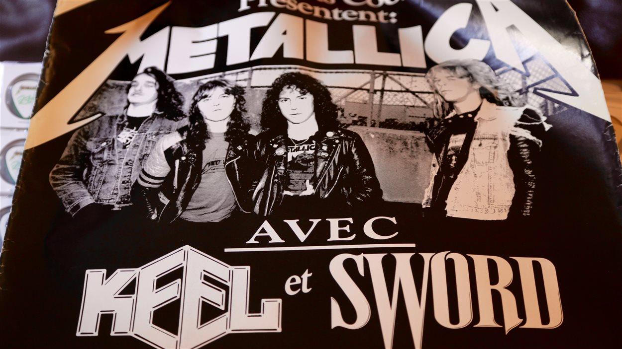 Une affiche officielle de la tournée Damage, Inc (1986). Metallica avait alors joué au Pavillon de la jeunesse.