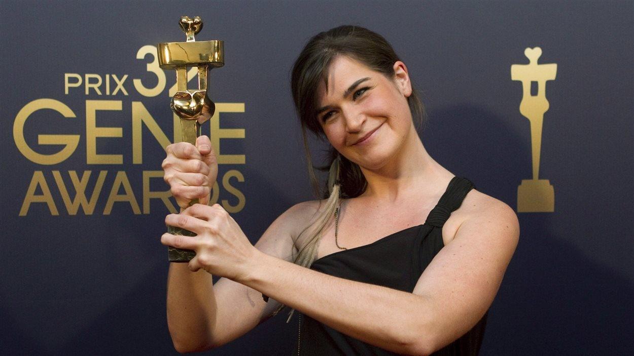 La réalisatrice Anne Émond lors des Prix Genie en 2012