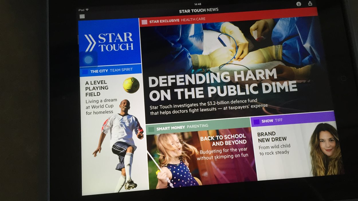 La nouvelle application gratuite du <i>Toronto Star</i>, Star Touch