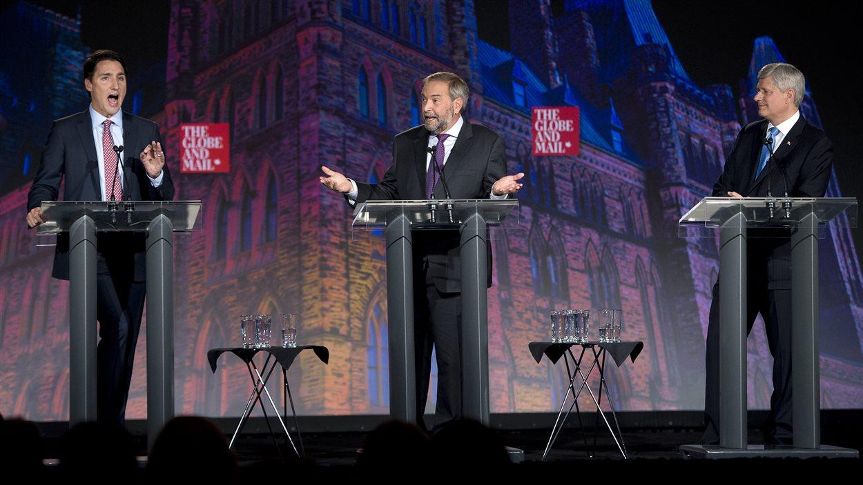 Justin Trudeau et Thomas Mulcair se sont souvent affrontés au cours du débat.