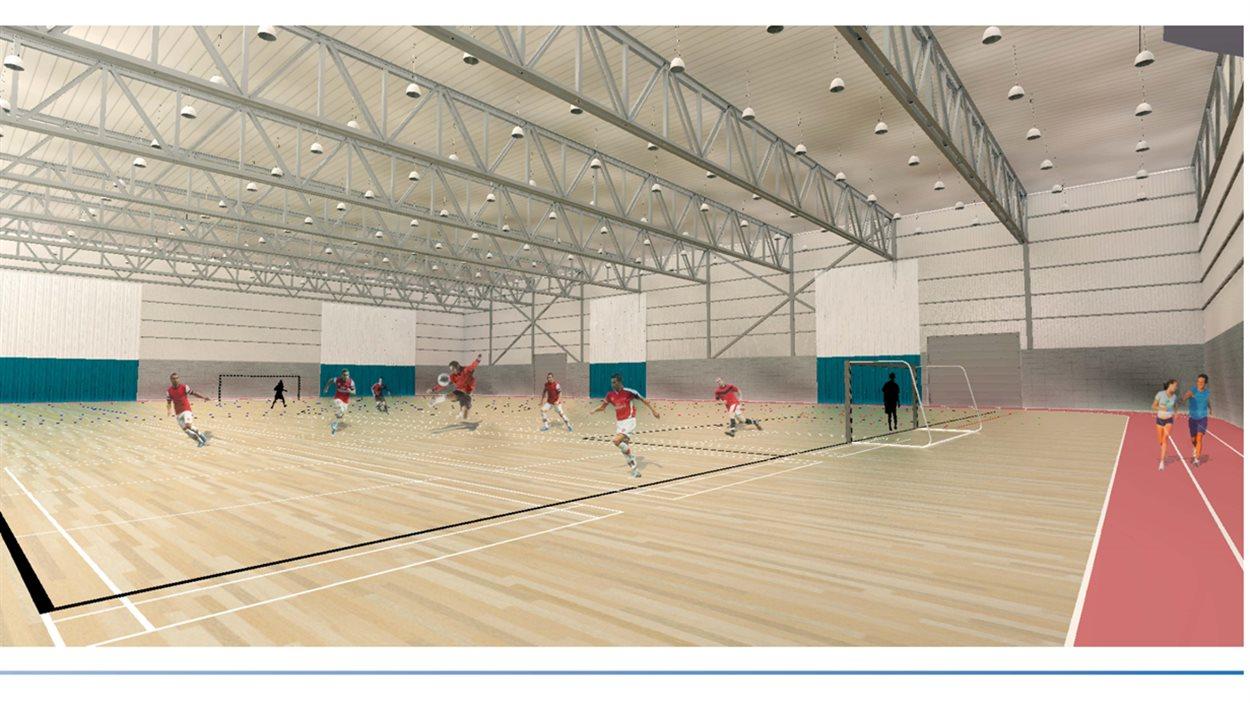 La maquette du nouveau centre Multi-Sports d'Alma