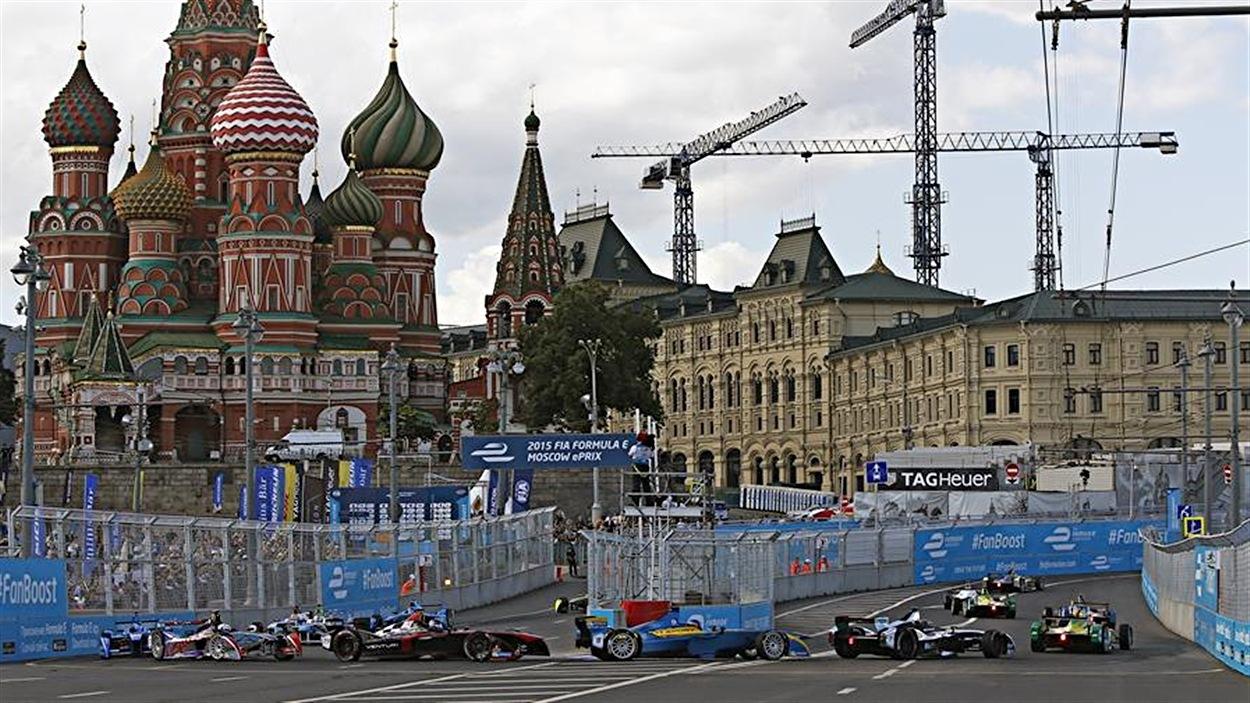 La course de formule E à Moscou