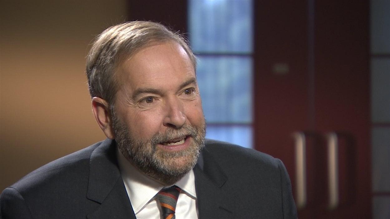 Le chef du NPD, Thomas Mulcair, en entrevue aux Coulisses du pouvoir