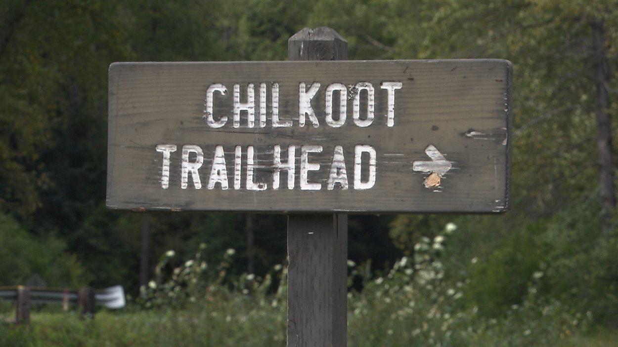 Piste Chilkoot au Yukon : début du sentier