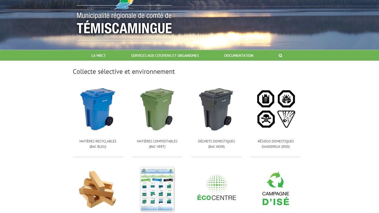 Site web de la MRC Témiscamingue
