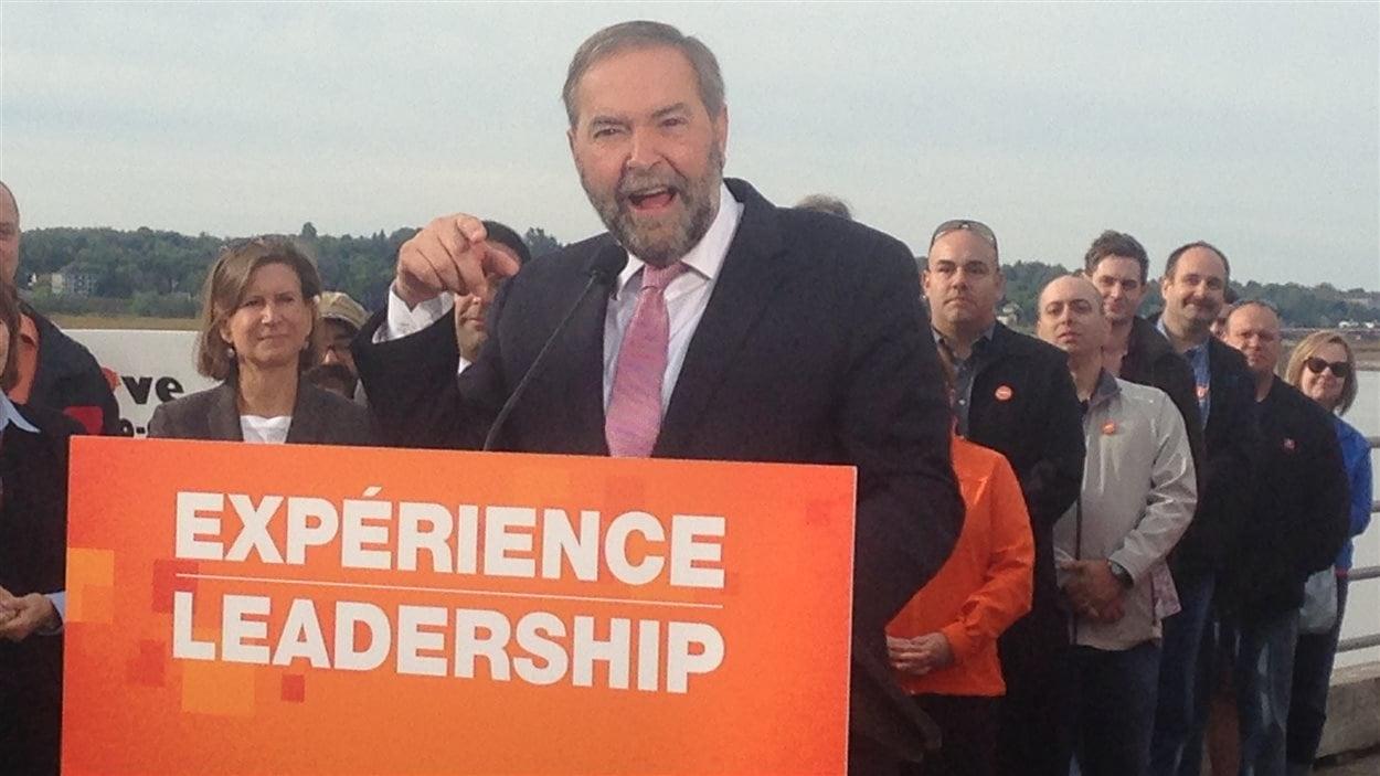 Thomas Mulcair annonce les propositions de son parti en matière d'assurance-emploi à Moncton