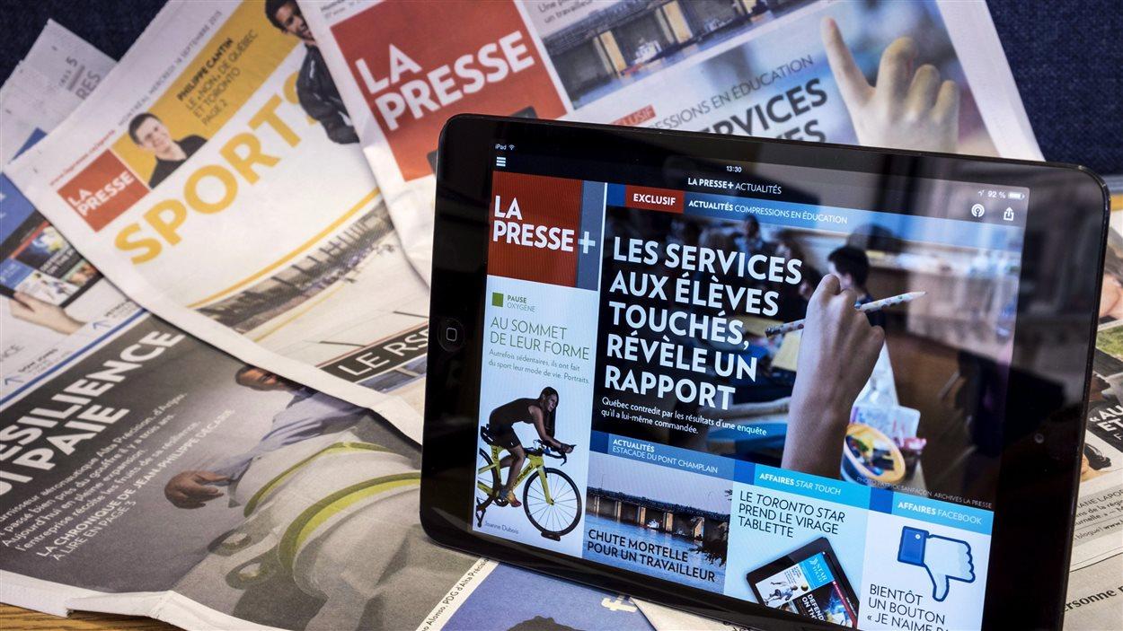 Le papier et le numérique se cotoient à La Presse