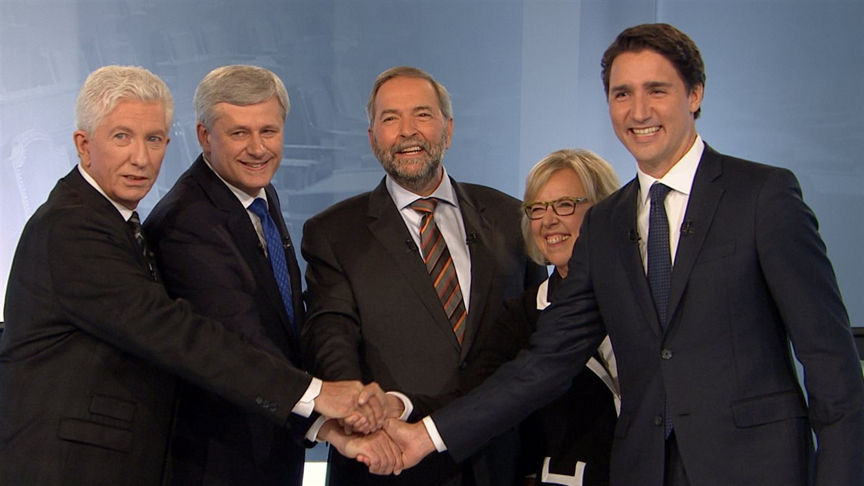 Les cinq chefs avant le débat en français