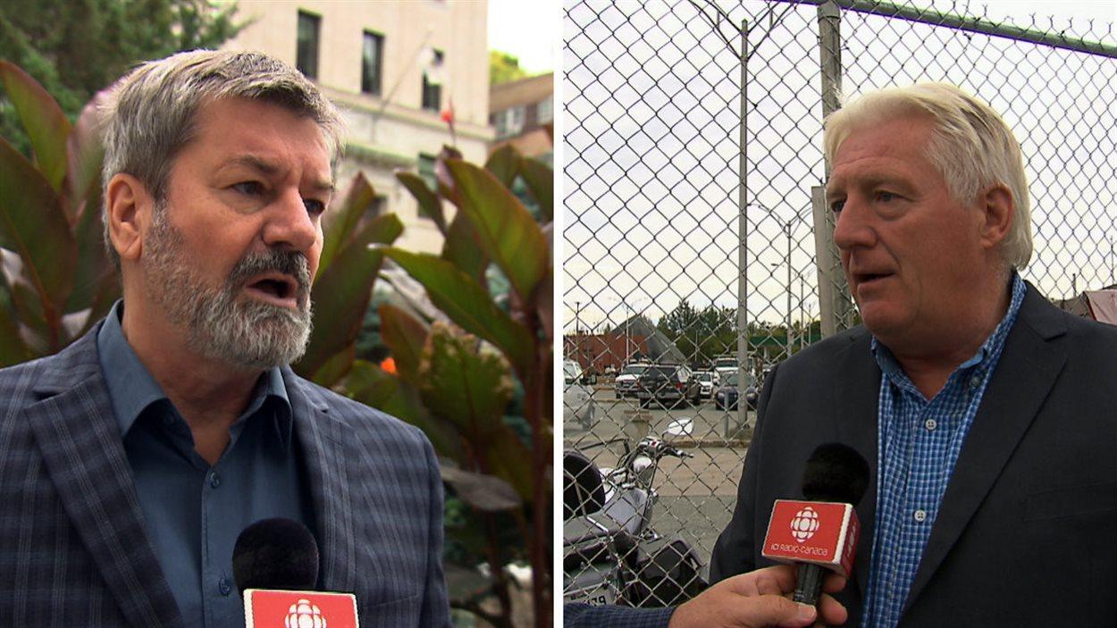 Serge Paquin et Gaétan Desnoyers