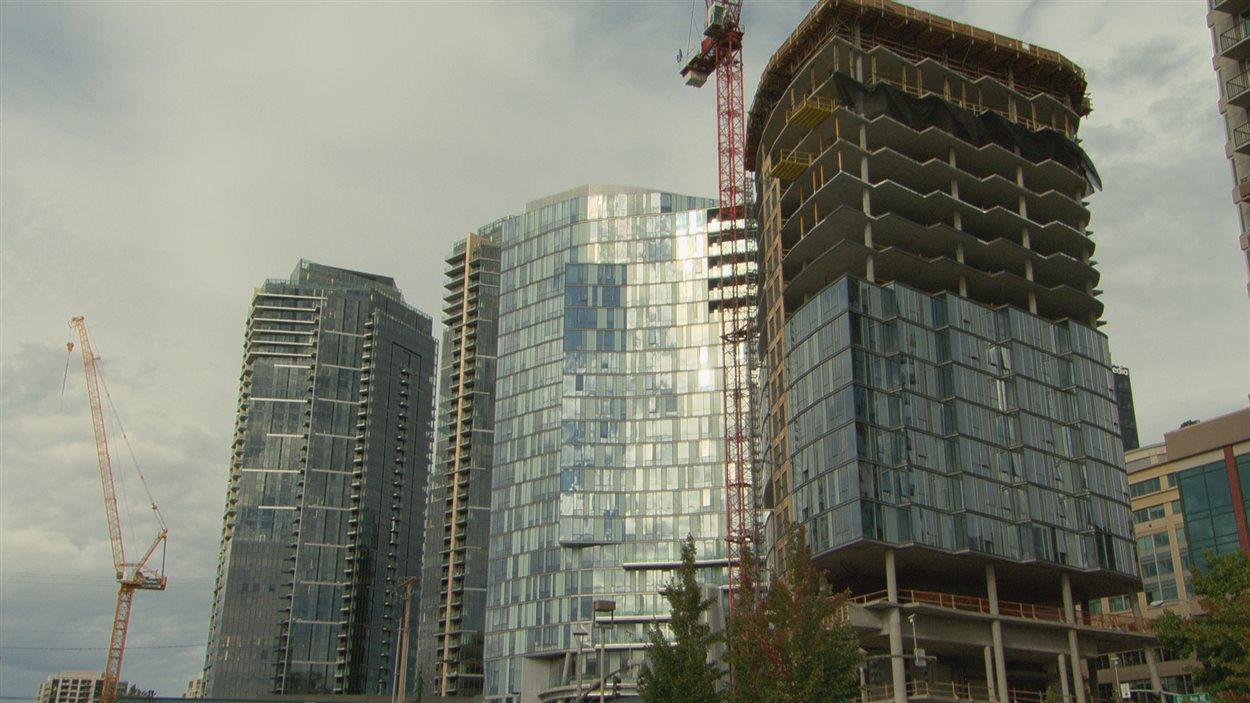 Le ville de Bellevue en banlieue de Seattle