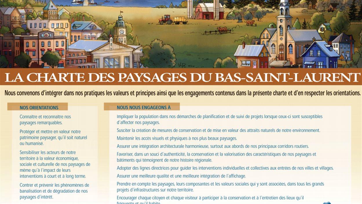Le public et les organismes sont invités à signer Charte des paysages du Bas-Saint-Laurent