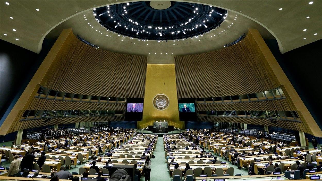 L'assemblée générale des Nations unies à New York
