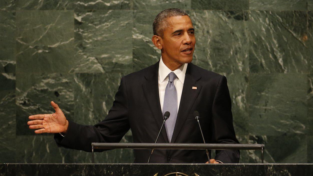 Le président Barack Obama lors de son discours devant l'Assemblée générale de l'ONU.