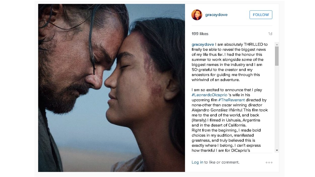 Une photo publiée par Grace Dove sur Instagram.