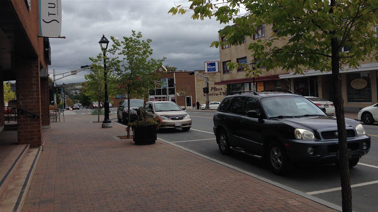 Le centre-ville d'Edmundston, au Nouveau-Brunswick