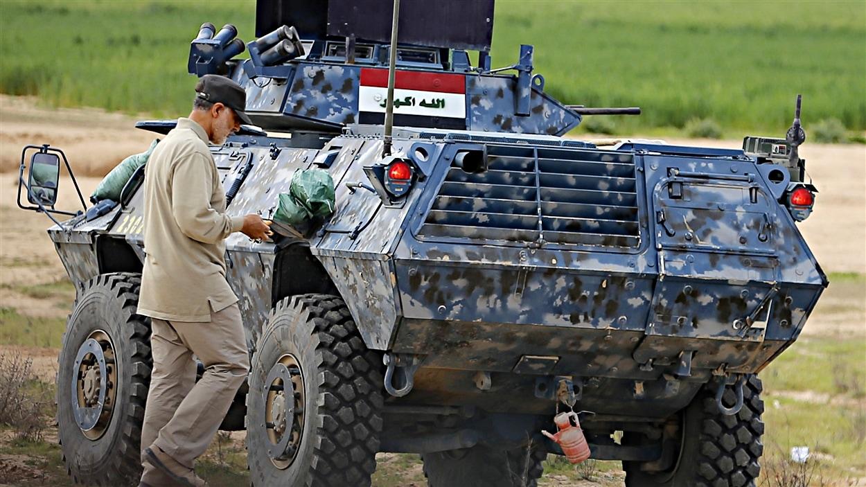 Le général Qassem Soleimani à Tal Ksaiba, en Irak, le 8 mars 2015