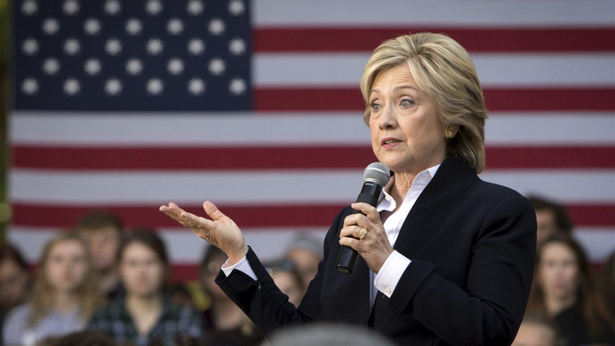 La candidate à l'investiture démocrate Hillary Clinton.