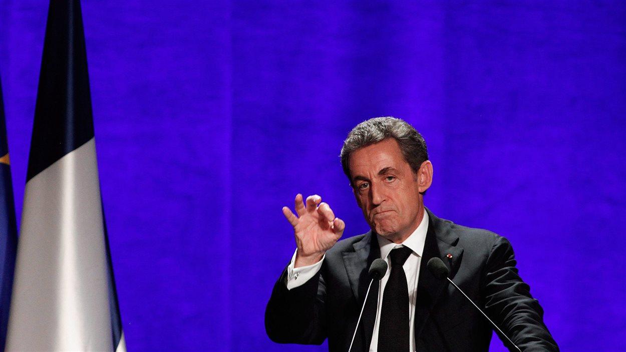 Le président du parti Les Républicains, Nicolas Sarkozy