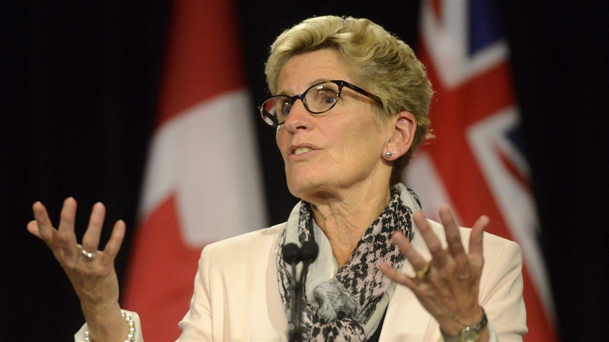 La première ministre de l'Ontario, Kathleen Wynne (archives)