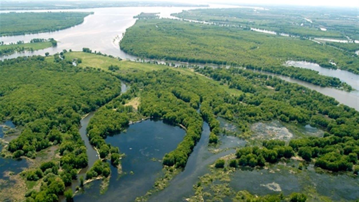 La biosphère du Lac Saint-Pierre, à vue d'oiseau