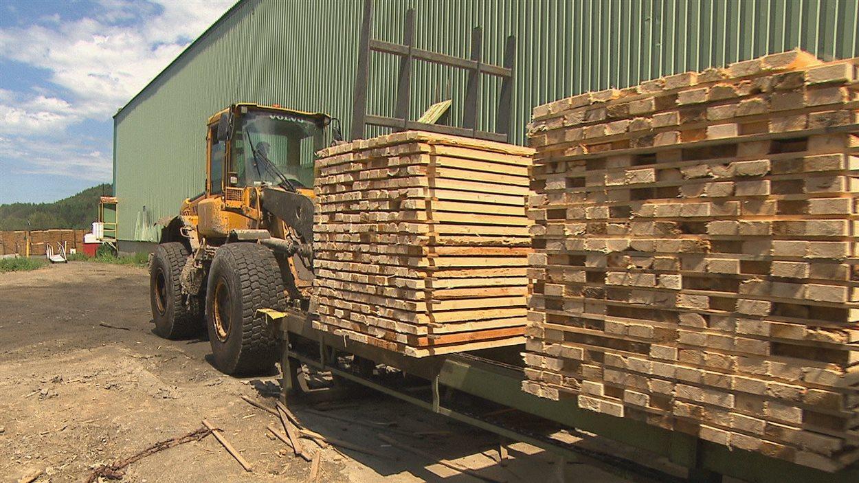 Une usine de bois d'oeuvre