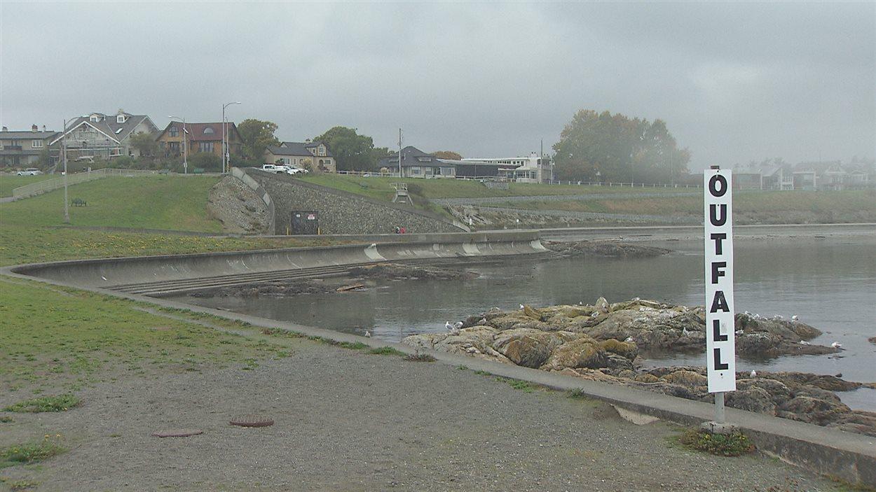 Un point de chute d'eaux usées à Victoria