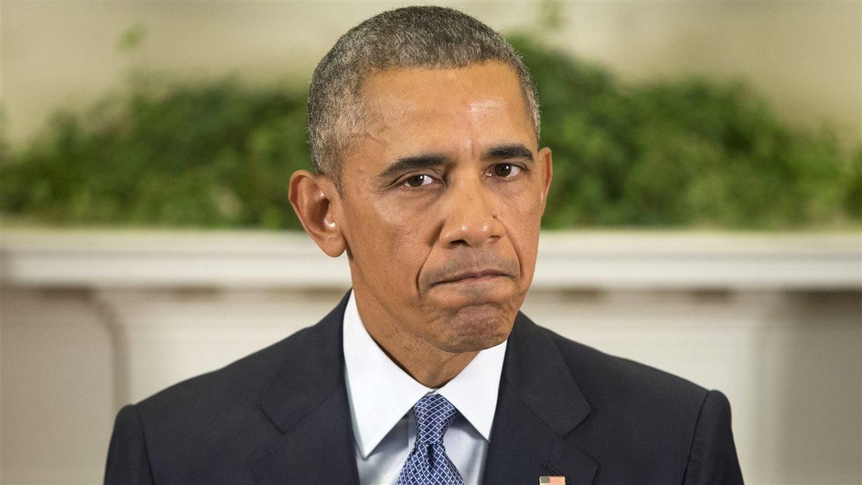 Le président américain Barack Obama fait une annonce sur les troupes en Afghanistan à la Maison-Blanche.