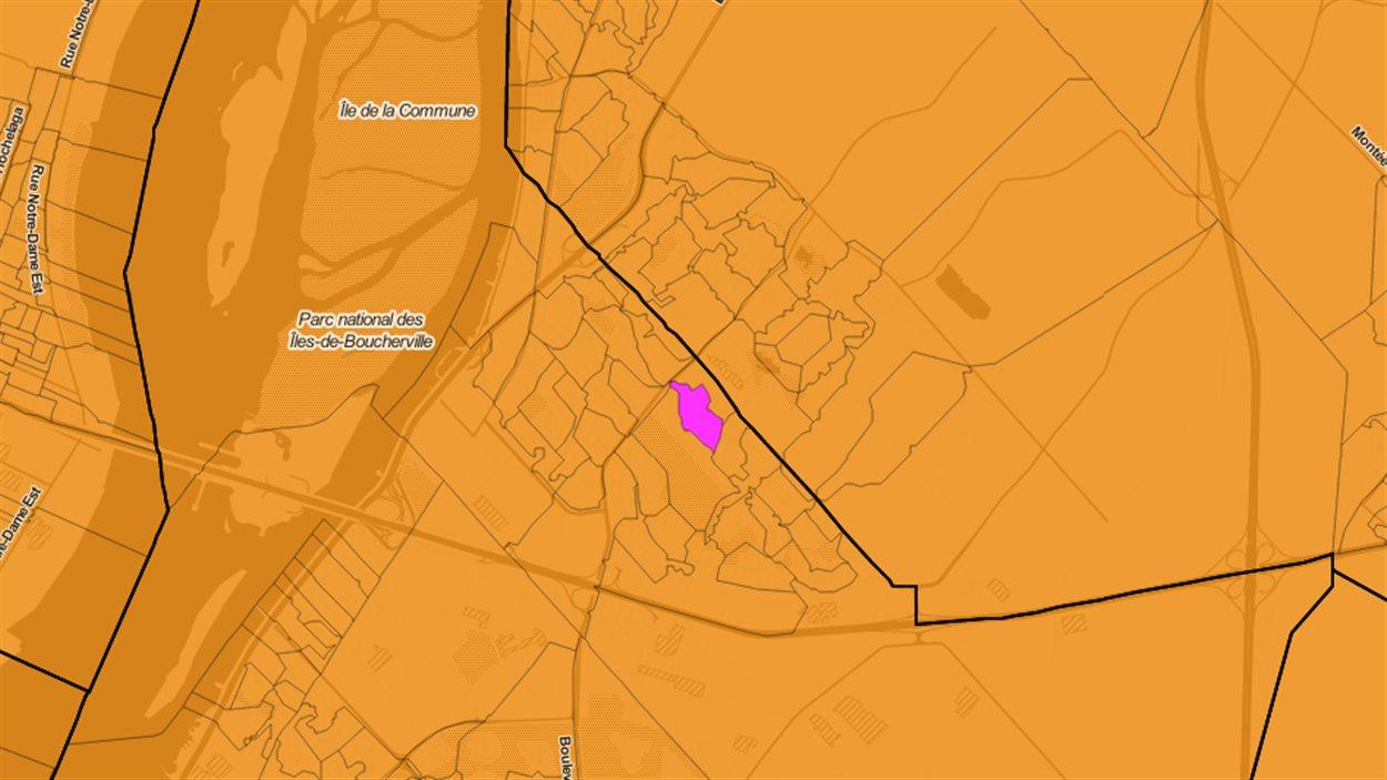 La section de vote de la circonscription Longueuil-Pierre-Boucher à Boucherville qui a majoritairement voté pour le candidat marxiste-léniniste en 2011.