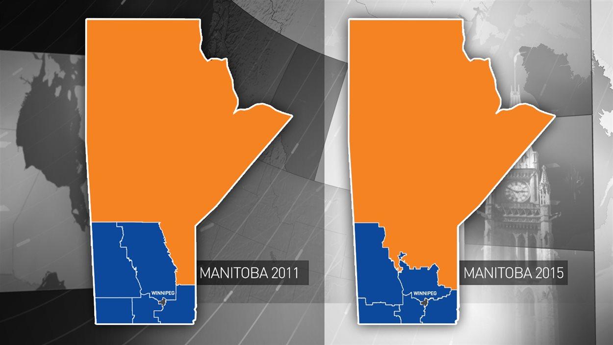 Résultats des élections fédérales en 2011 et en 2015