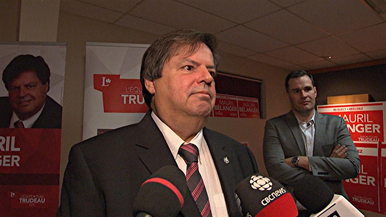 Le député libéral réélu Mauril Bélanger dans Ottawa-Vanier. (19-10-15)