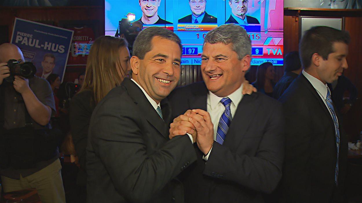Les conservateurs Pierre Paul-Hus et Gérard Deltell