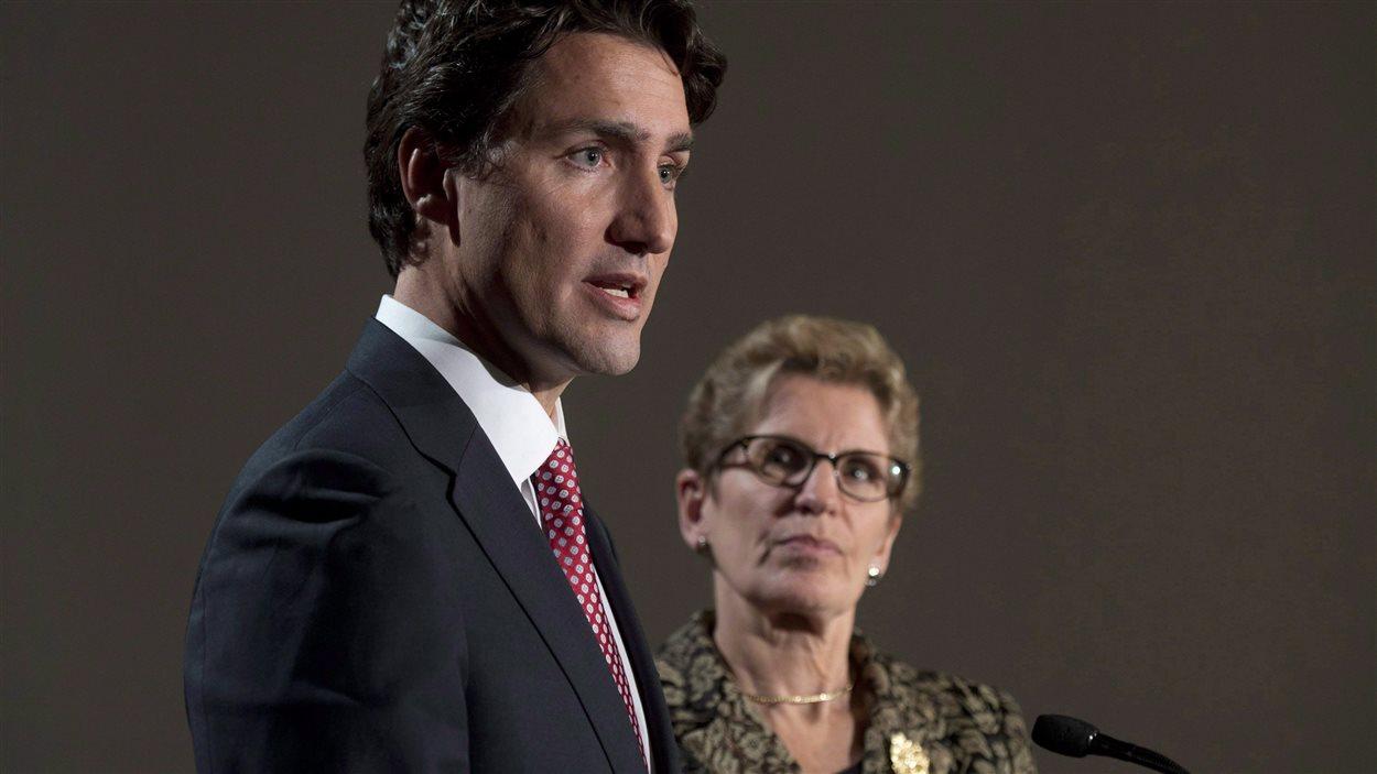 La première ministre ontarienne Kathleen Wynne a fait activement campagne pour le chef libéral Justin Trudeau au cours des derniers mois.